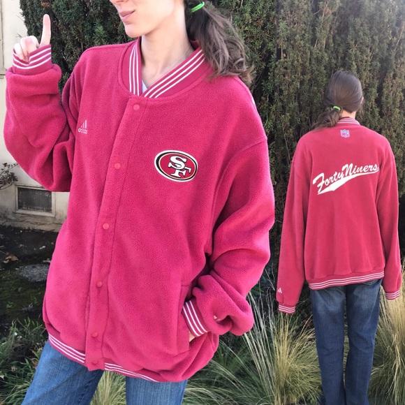NFL Other - Adidas Vintage Forty Niners 49er's Fleece Jacket
